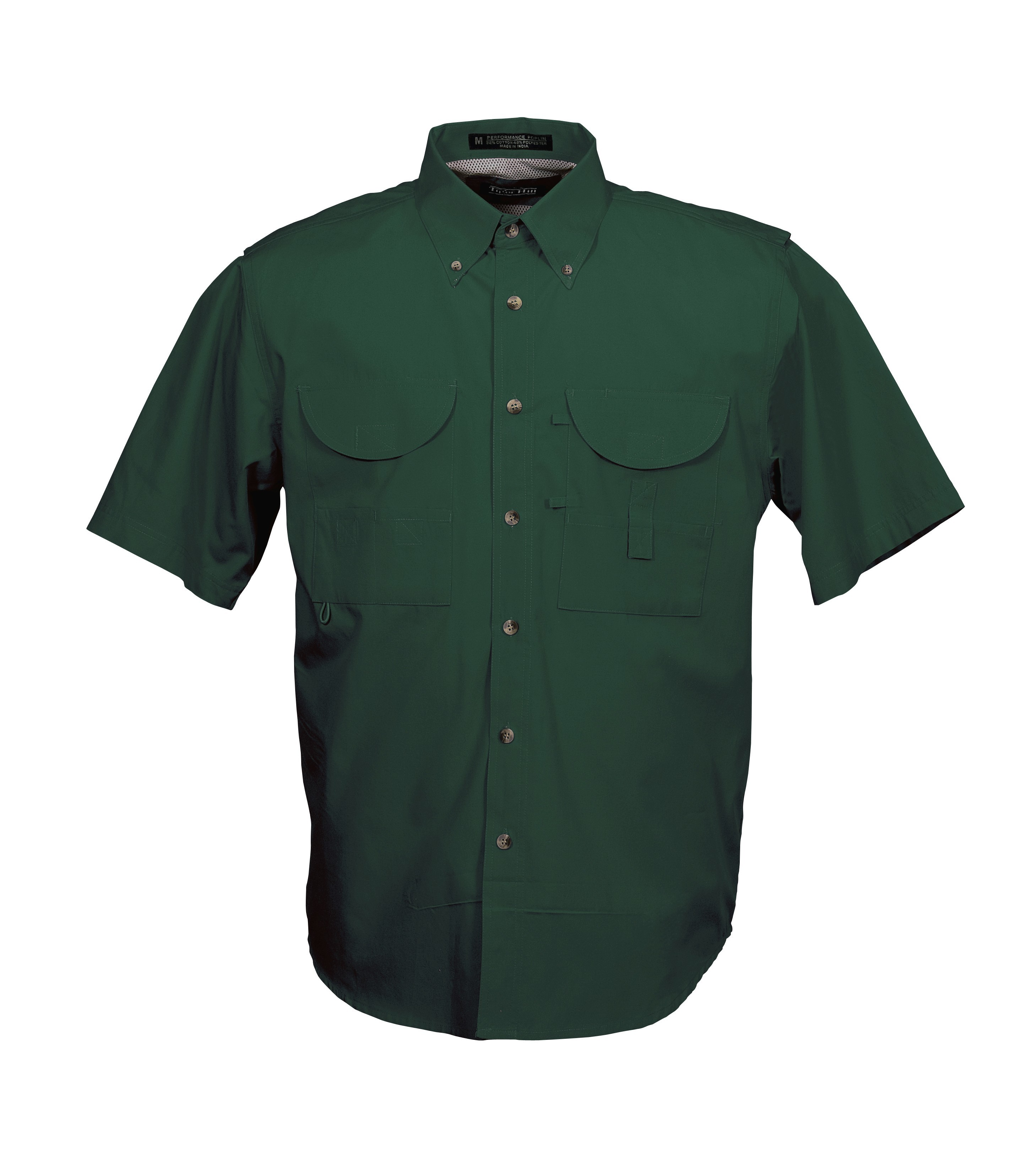 Tiger hill men 39 s fishing shirt short sleeves forest green for Men s fishing apparel
