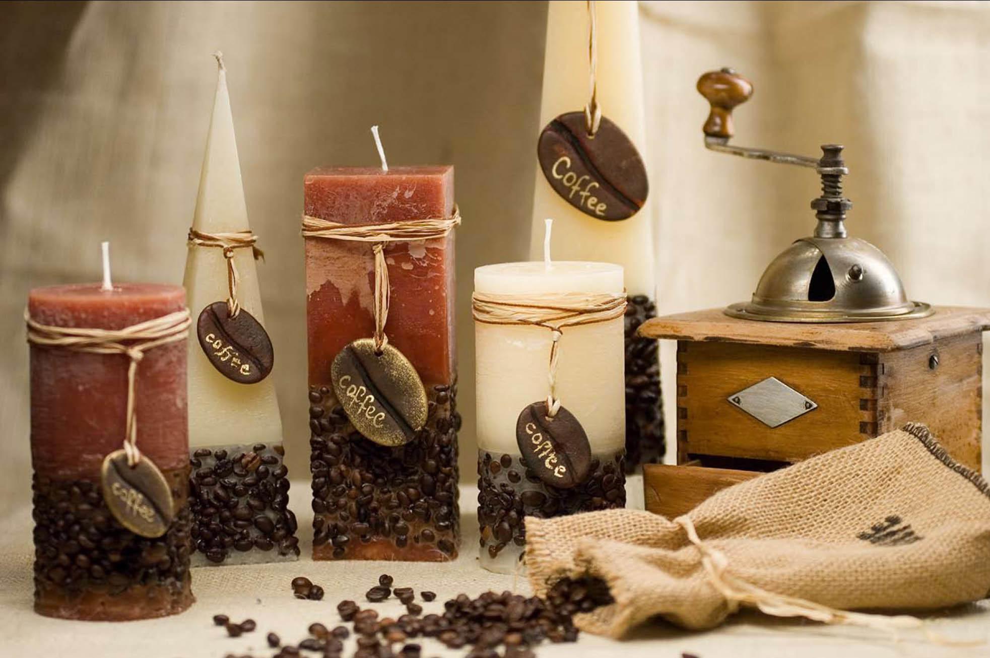 Свеча с кофе