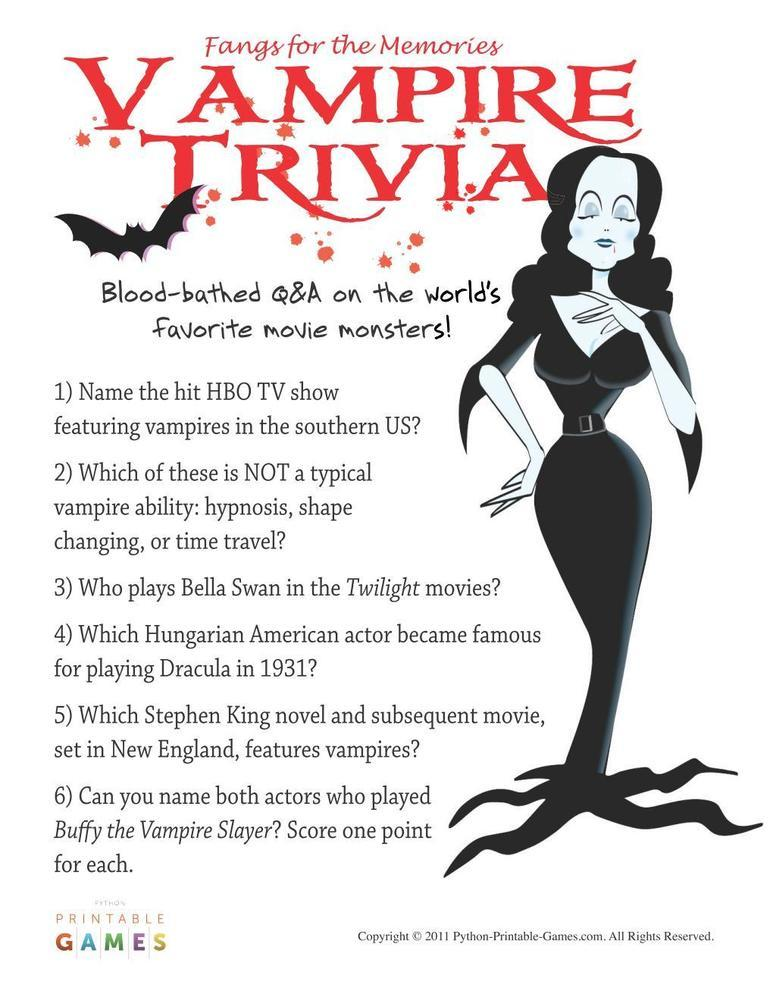 Party trivia games adults
