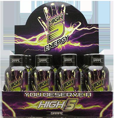 High 5 Energy Shots Grape (Case of 12 bottles)