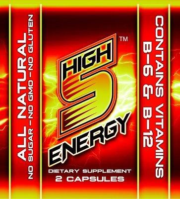 High 5 Energy Capsules 2ct trial packs (20 packs)