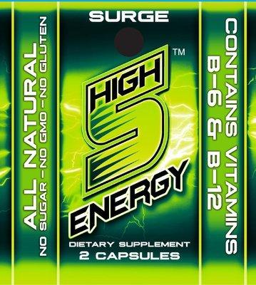 High 5 Energy Surge Capsules 2ct trial packs (20 packs)