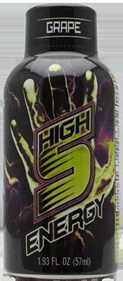 High 5 Energy Shots Grape Sample 1 Bottle