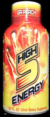 High 5 Energy Shots Ga Peach Sample 1 Bottle