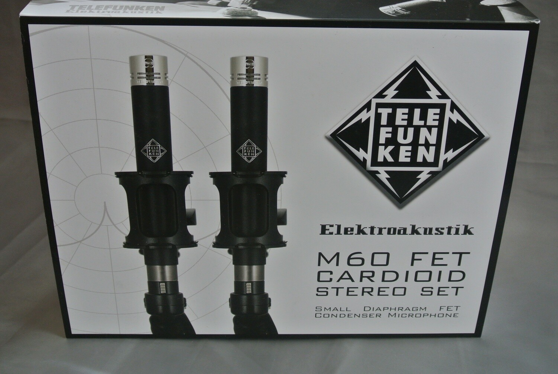 Telefunken Elektroakustik M60 fet microphone, stereo cardioid set