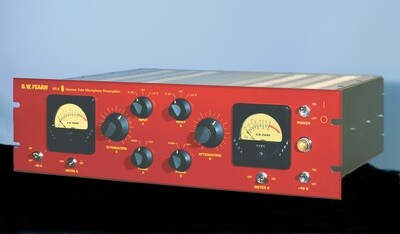 D.W. Fearn VT-2 dual channel vacuum tube microphone preamp