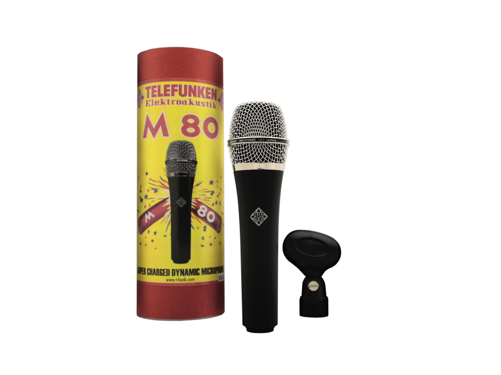 Telefunken Elektroakustik M80 dynamic microphone (chrome grille)