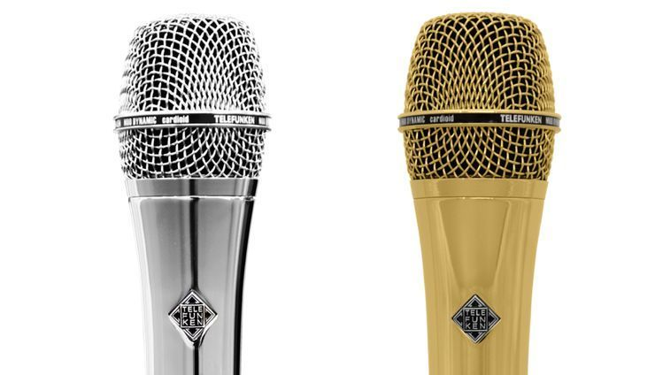 Telefunken M80 / M81 dynamic mic in chrome or gold