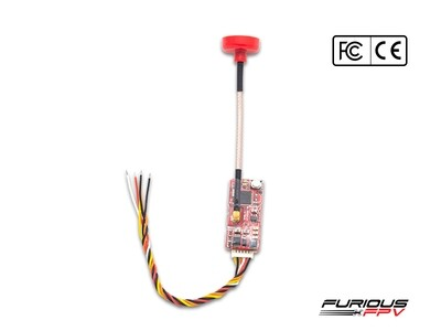 FuriousFPV Stealth Nano Race VTx Combo - 100mW 6S 40 Channel (with 2 antennas)