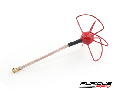 Furious FPV UFL Clover Antenna - Red