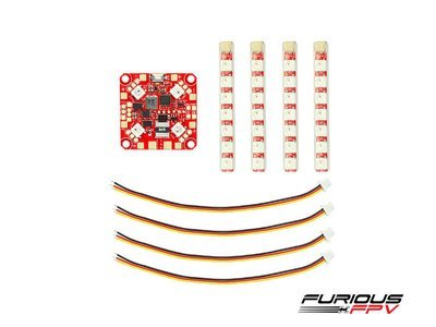FuriousFPV Lightning 2-6S PDB with Single Row LED Strip