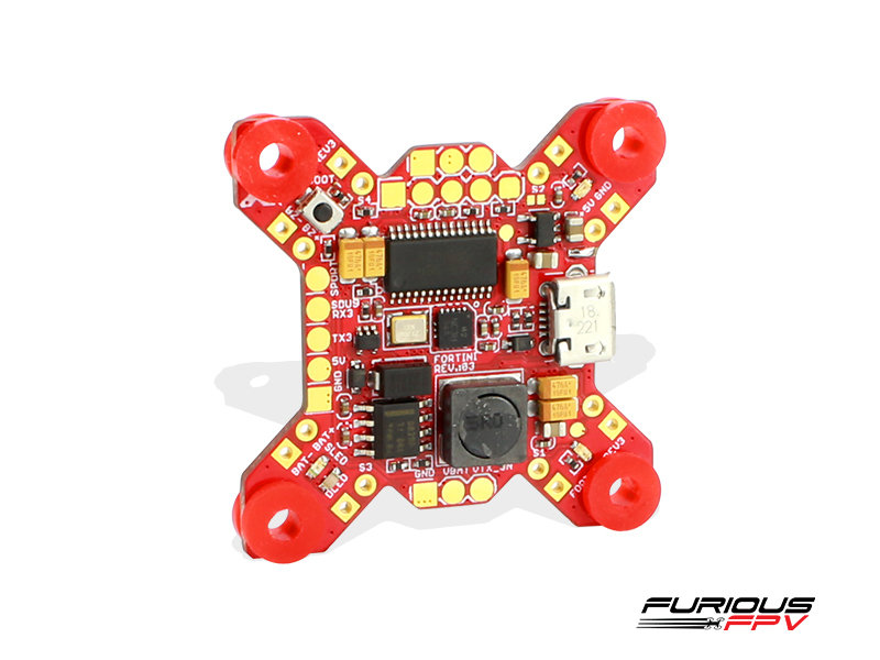 FuriousFPV Fortini F4 OSD 32khz Flight Controller rev3