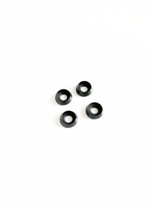 M3 x 8 Aluminium Tapered Washer - Matte Black (4 pack)
