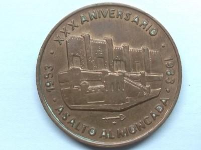 Cuba. Medal. 1983. 1953-1983. 30th anniversary Assault to Moncada. Cu. 20.38 g. UC. AU