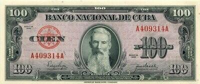 Куба. Бумажные деньги. 1950. 100 песо * 100 штук. Агуелера. Тип: 1950. Серия/№: . Подпись: . Catalog #. PRESS (UNC)