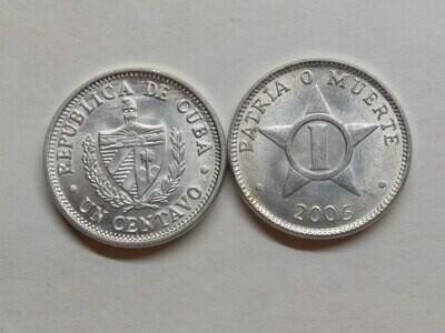 Cuba. 2005. 1 centavo CUP. Star. Type: 1915. Al. 0.750 g., KM#33.3 AU