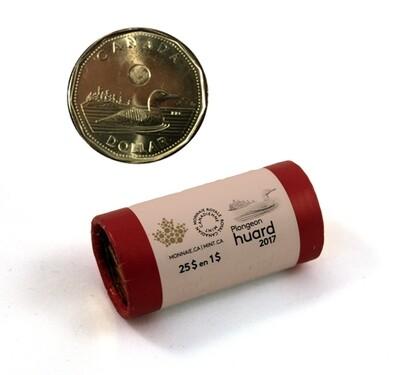 Канада. Елизавета II. 2017. 1 доллар - ролл из 25 монет. Селезень. Ni-Cu. KM#. UNC