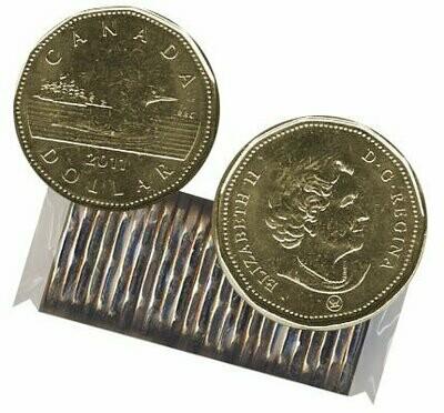 Канада. Елизавета II. 2011. 1 доллар - ролл из 25 монет. Селезень. Логотип RCM. Ni-Cu. KM#. UNC