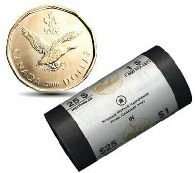 Канада. Елизавета II. 2006. 1 доллар - ролл из 25 монет. Селезень. Ni-Cu. KM#. UNC