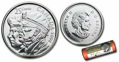 Канада. Елизавета II. 2005. 25 центов - ролл из 40 монет.