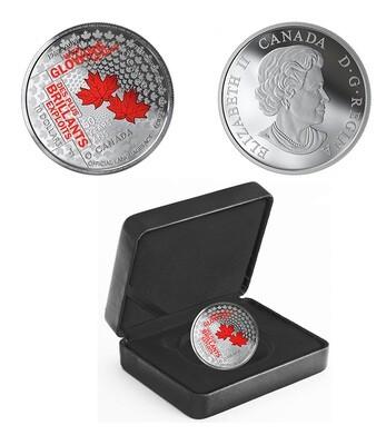 Канада. Елизавета II. 2019. 10 долларов. 50 лет официальным языкам Канады. 0.9999 Серебро 0.560 Oz., ASW., 15.870 g., PROOF / Colored