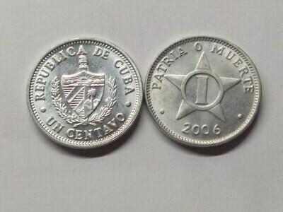 Cuba. 2006. 1 centavo CUP. Star. Type: 1915. Al. 0.750 g., KM#33.3 AU