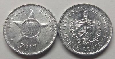 Cuba. 2017. 20 centavos CUP. Star. Type: 1915. 2.000 g., Al KM#35.1 AU