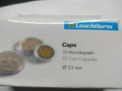 Капсулы для монет 33.00 мм. 1 * 10 шт. Lighthaus / Leuchtturm.