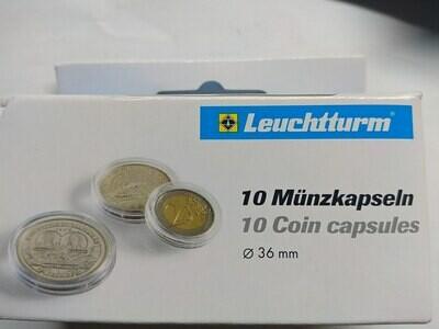 Капсулы для монет 36.00 мм. 1 * 10 шт. Lighthaus / Leuchtturm.