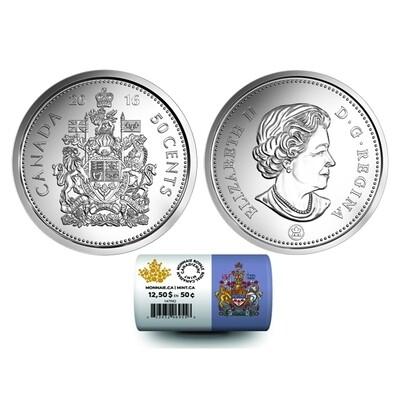 Канада. Елизавета II. 2016. 50 центов. Fe-Ni 6.90 g. UNC. Mintage: 800,000