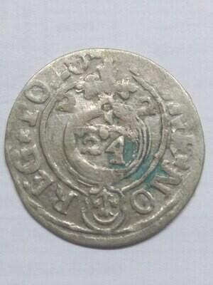 Речь Посполитая. Польша. Сигизмунд III. 1622. Полторак.  Obv: MONE NO REG POLO / 16 / 22. Rev: SIGIS 3 D G REX P M D L. Ag. 1.07 g. VF-