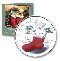 Канада. Елизавета II. 2005. Праздник #02. Подарочный набор монет. UNC. В подарочной упаковке.