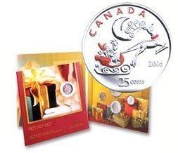 Канада. Елизавета II. 2006. Праздник #03. Подарочный набор монет. UNC. В подарочной упаковке.