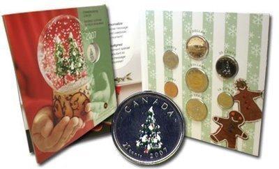Канада. Елизавета II. 2007. Праздник #04. Подарочный набор монет. UNC. В подарочной упаковке.