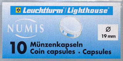 Капсулы для монет 19.00 мм. 1 * 10 шт. Lighthaus / Leuchtturm.