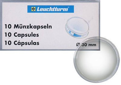 Капсулы для монет 30.00 мм. 1 * 10 шт. Lighthaus / Leuchtturm.