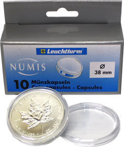 Капсулы для монет 38.00 мм. 1 * 10 шт. Lighthaus / Leuchtturm.