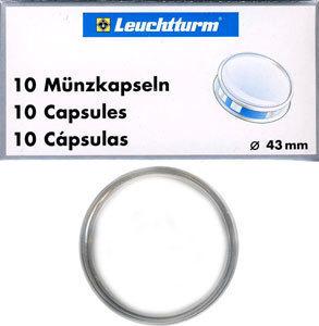 Капсулы для монет 43.00 мм. 1 * 10 шт. Lighthaus / Leuchtturm.