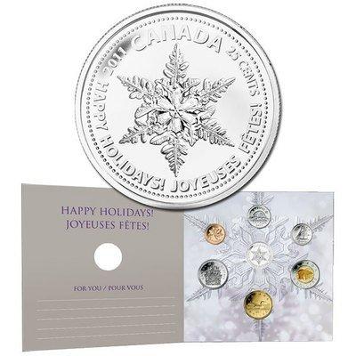 Канада. Елизавета II. 2011. 25 центов. Набор монет. Праздник #08. Снежинка. KM#. PROOF PF60