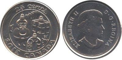 Канада. Елизавета II. 2012. 25 центов. Набор монет. Праздник #09. Украшенная рождественская ёлка. KM#. Proof-Like. PL60