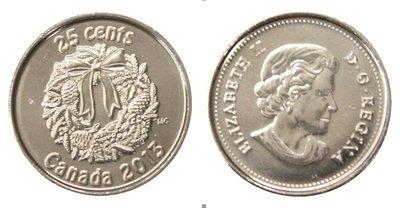 Канада. Елизавета II. 2013. 25 центов. Набор монет. Праздник #10. Рождественский венок. KM#. Proof-Like. PL60