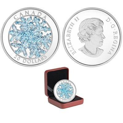 Канада. Елизавета II. 2017. 20 долларов. Снежинка. 0.9999 Серебро 1.110 Oz., ASW., 31.390 g., PROOF.