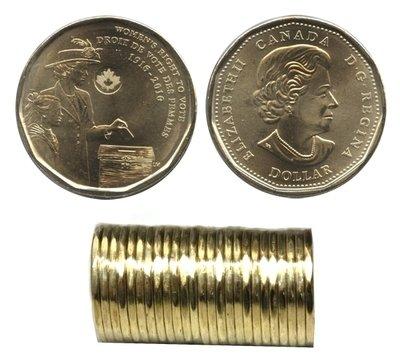 Канада. Елизавета II. 2016. 1 доллар. 1916-2016. 100 лет права голосования женщин. Ni-Cu. KM#. UNC