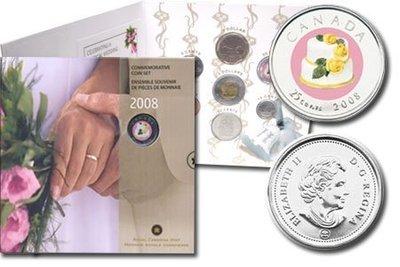 Канада. Елизавета II. 2008. 25 центов. Набор монет. Серия: Свадьба. #05. Ni, Fe. Proof Like. PL60