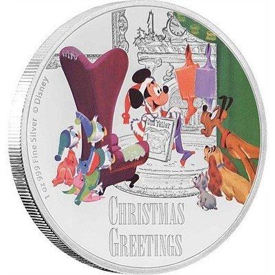 Ниуэ. Елизавета II. 2017. 2 доллара. Поздравление с Рождеством. 0.999 Серебро 1.00 Oz., ASW. 31.1g. PROOF / Coloured
