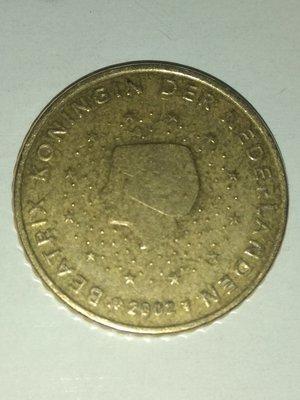 Европа. Нидерланды. 2002. 50 евро центов. Латунь. 7.8 g. KM#239 XF
