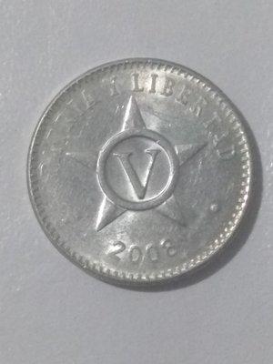 Cuba. 2008. 5 centavos CUP. Star. Type: 1915. Aluminium. 1.500 g., KM#34. AU
