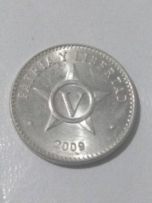Cuba. 2009. 5 centavos CUP. Star. Type: 1915. Aluminium. 1.500 g., KM#34. AU