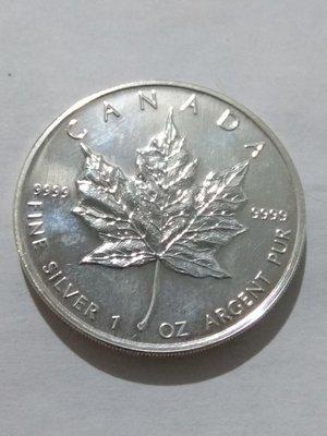 Канада. Елизавета II. 2001. 5 долларов. Кленовый лист. 0.9999 Серебро 1.0 Oz., ASW., 31.1 g., BU. UNC