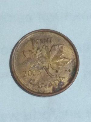 Канада. Елизавета II. 2003. 1 цент. Сталь плакированная медью. 2.25 g. VF